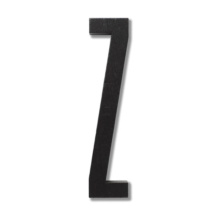 Wooden Letters Indoor Z de Design Letters en noir
