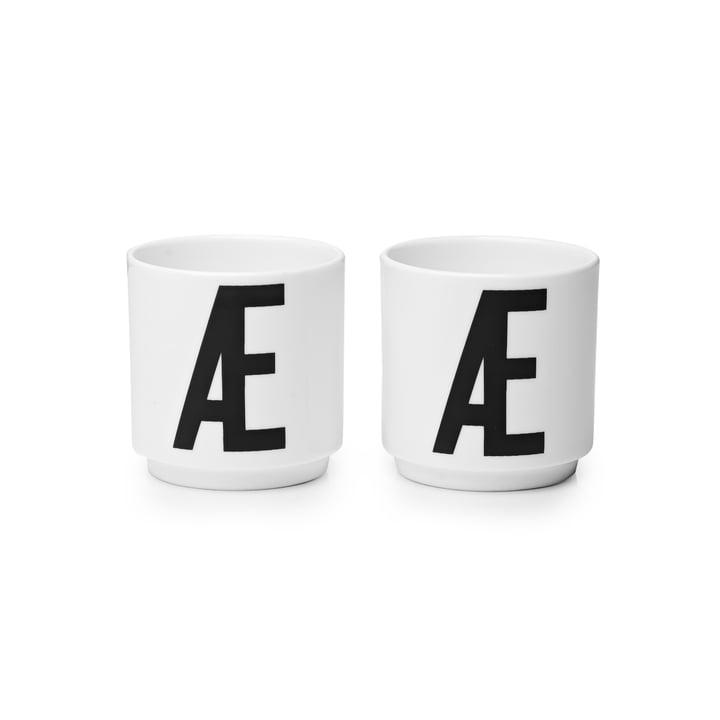Design Letters - Coquetier en porcelaine Æ (lot de 2)