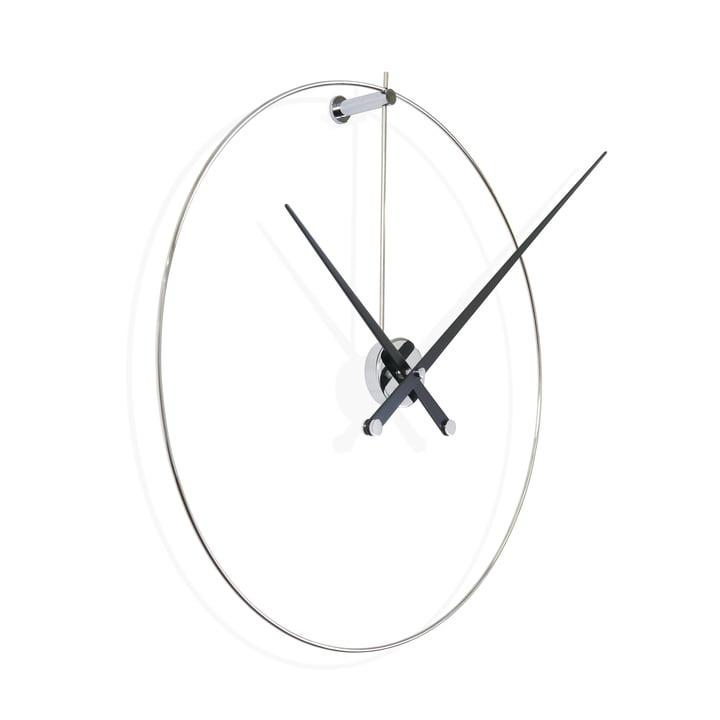 Horloge murale New Anda de nomonde couleur noire, en acier