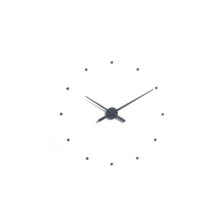 Horloge murale OJ mini de nomon en gris