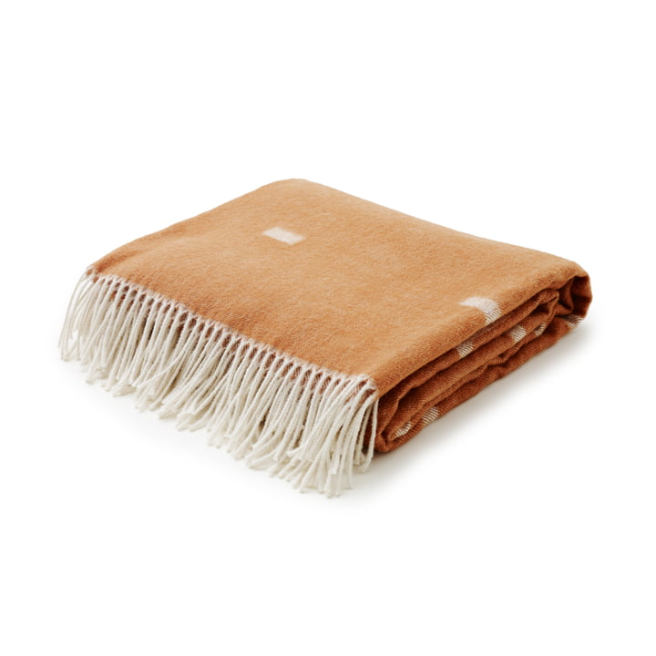 Skagerak - Iota couverture en laine en cognac brown