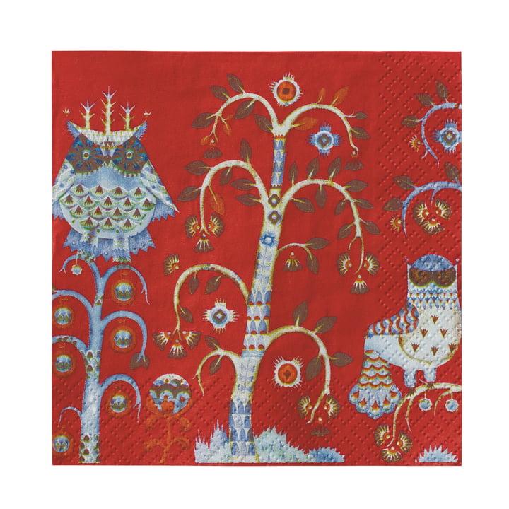 Taika serviette 33 x 33 cm d'Iittala en rouge