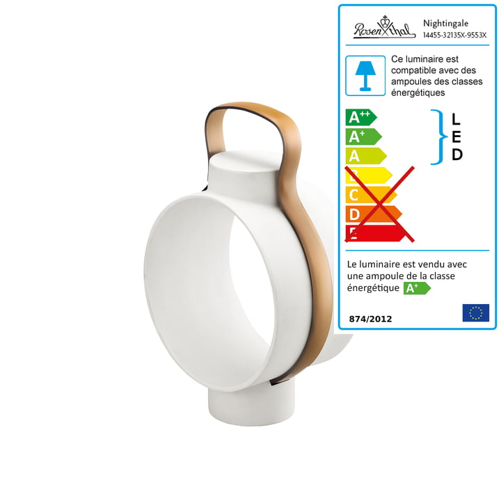 Rosenthal - Lampe de table Nightingale, petit format / naturel