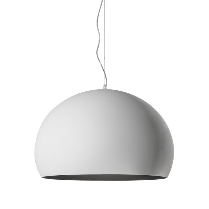 Kartell - FL/Y Suspension lumineuse, opale mat, blanc