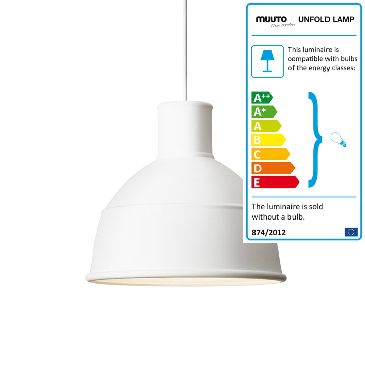 Muuto - Unfold Lampe à suspension, blanc