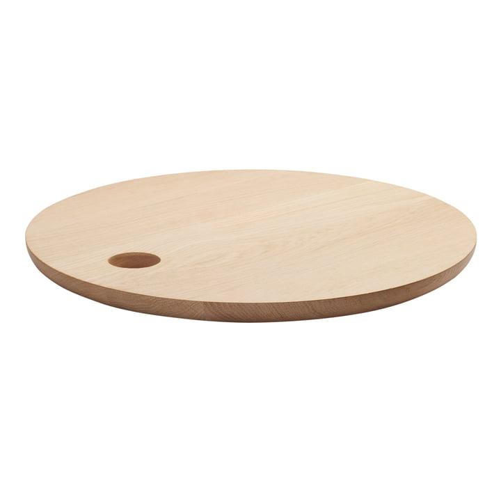 e15 - Planche à découper AC07 Cut, Ø 45cm, grand, en chêne naturel