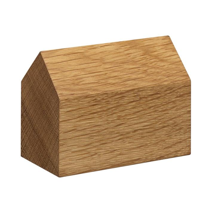e15 - Presse-papiers en bois AC10 Haus en chêne avec toit à deux versants, grand