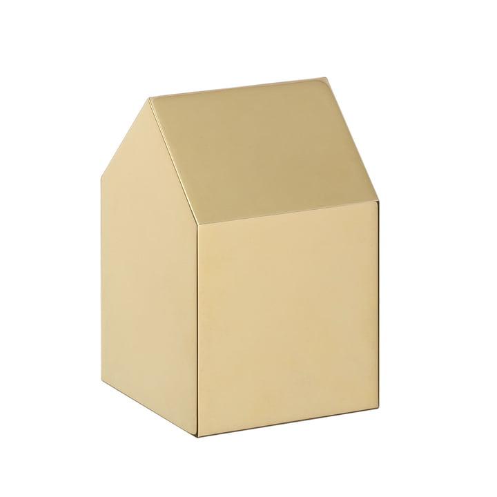 e15 - Presse-papiers en bois AC10 Haus en laiton avec toit à deux versants