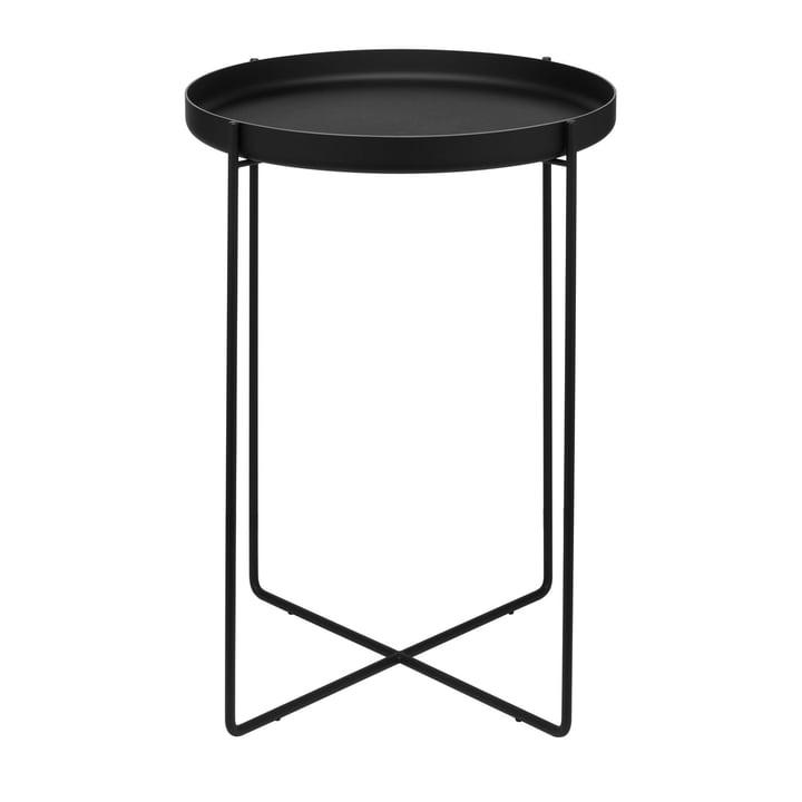 e15 - Table d'appoint CM05 Habibi, h 47cm Ø 37cm en noir foncé