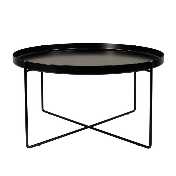 e15 - Table d'appoint CM05 Habibi, h 30cm Ø 57cm en noir foncé