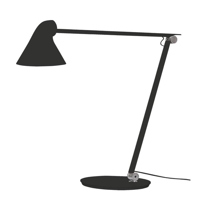 Louis Poulsen - Lampe de table NJP à pied en noir