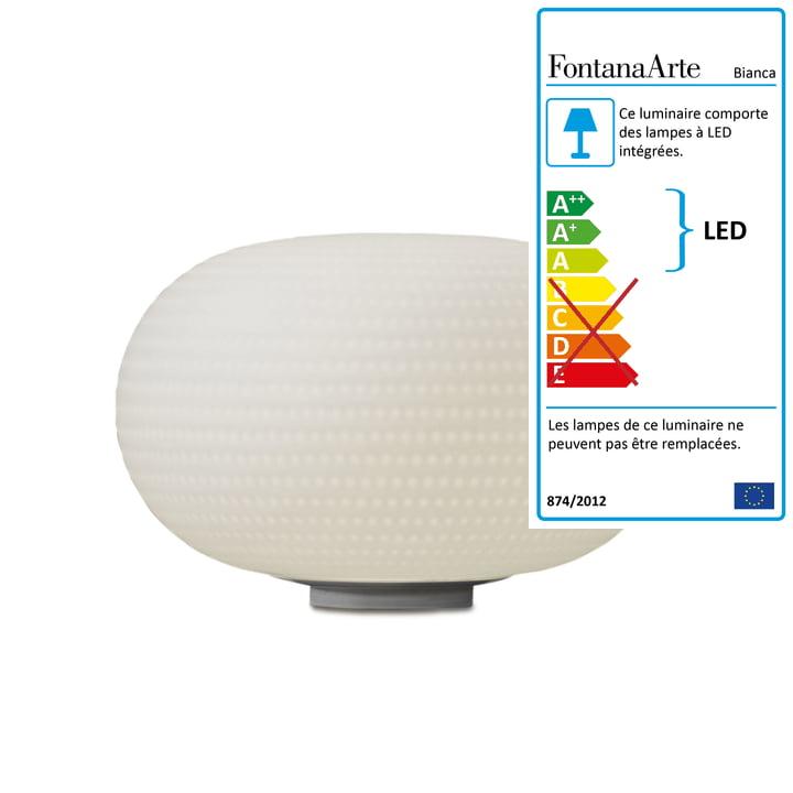 Lampe de table Bianca de FontanaArte en blanc