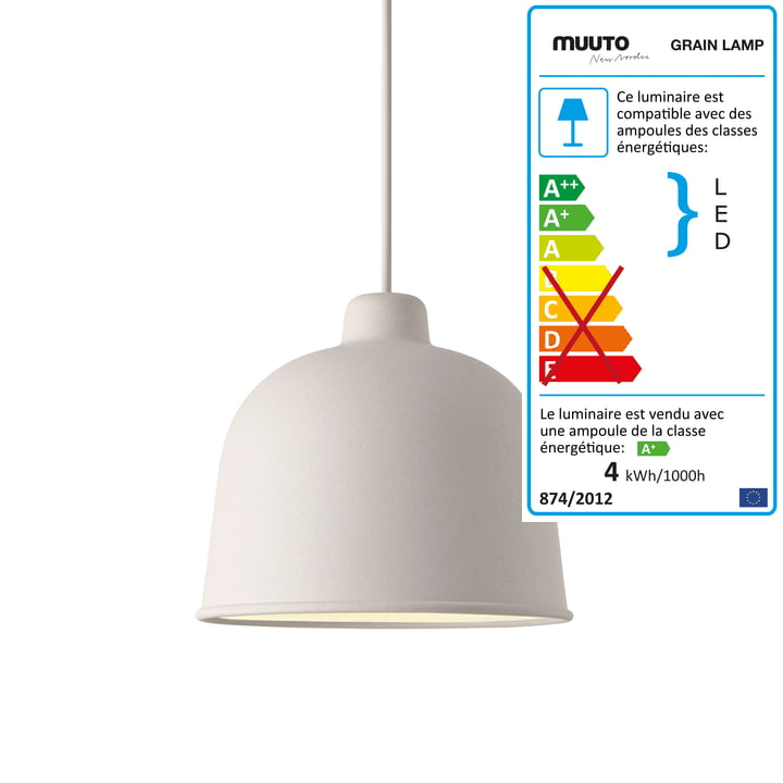 Muuto - Grain suspension lumineuse, blanc