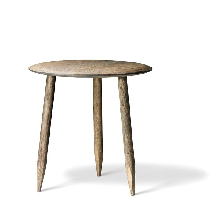 &tradition - Hoof Table d´appoint SW1 Ø 50 cm, chêne fumé