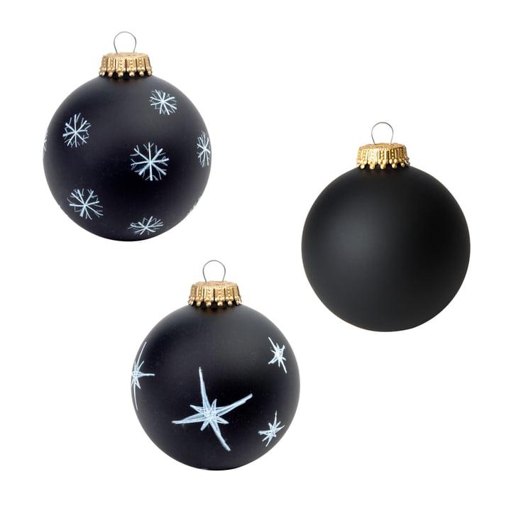 Corpus Delicti - Boule de Noël DIY - Black Magic, noir mat