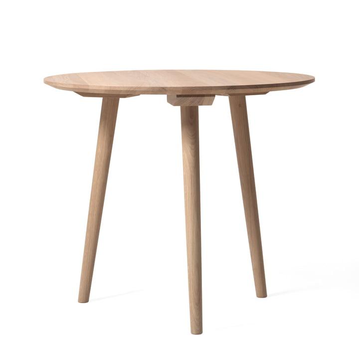Table In Between SK3 Ø 90 cm par &Tradition en chêne blanc huilé