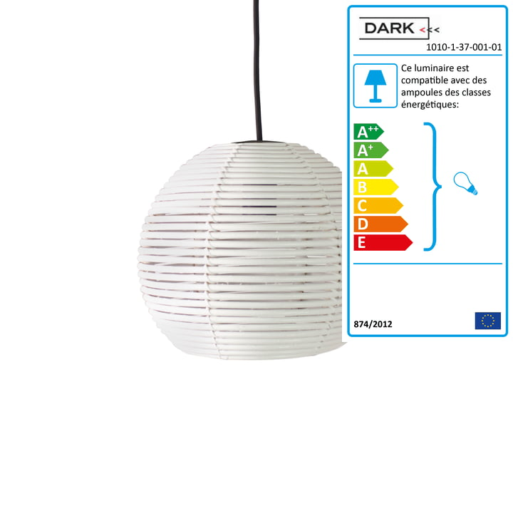 Dark - Suspension lumineuse Sangha 30, blanc
