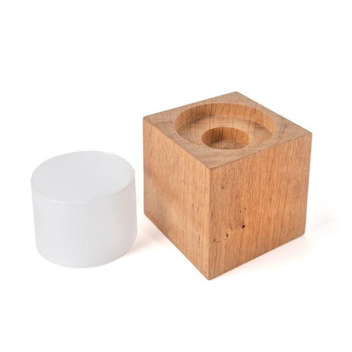Design im Dorf - Photophore en forme de cube Cubo