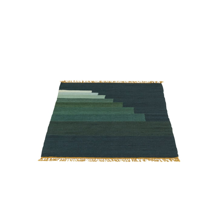 Tapis Another Rug AP1, 90 x 140 cm par & tradition en jade vert