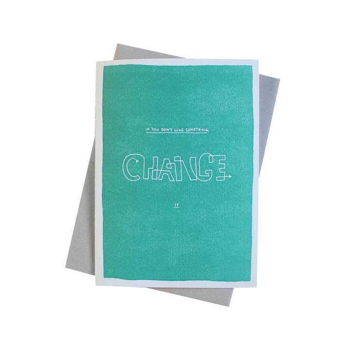 Carte de vœux Color Block Wisdom Change de Sascha Mombartz pour Holstee