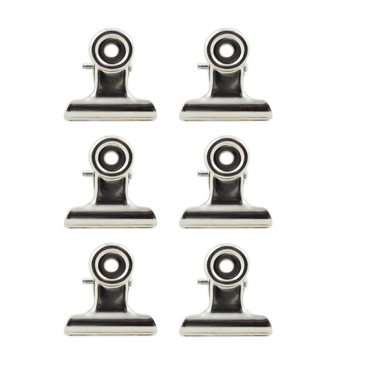 Pinces à papier magnétiques en argenté
