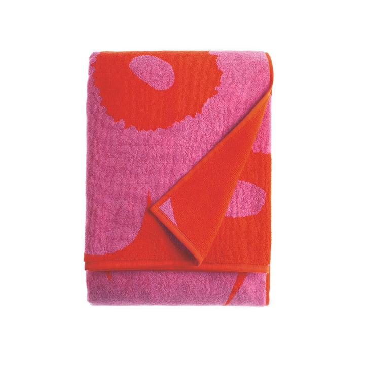 Serviette de bain Unikko 75x150cm de Marimekko en rouge