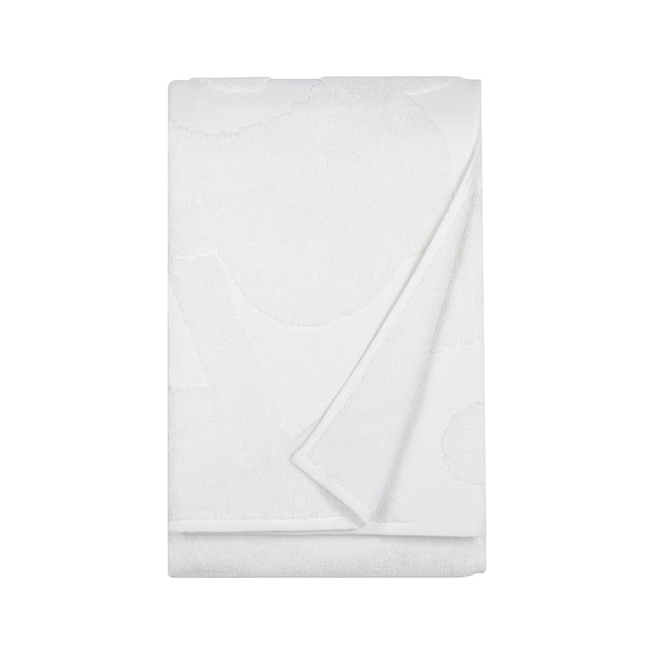 Marimekko - Serviette de bain Unikko Solid 75 x 150 cm en blanc