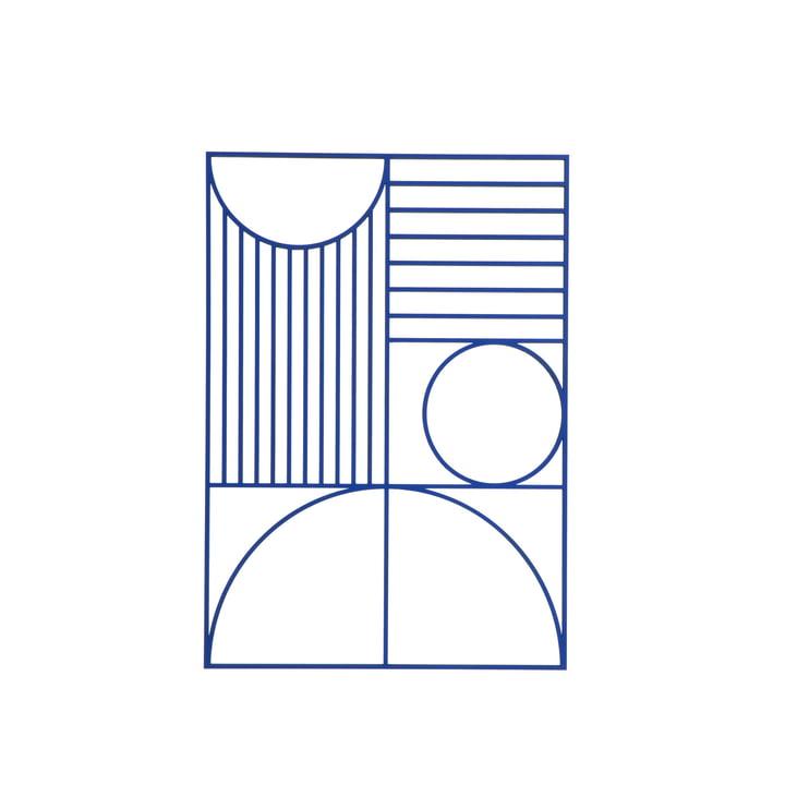 Décoration murale rectangulaire Outline de ferm Living en bleu