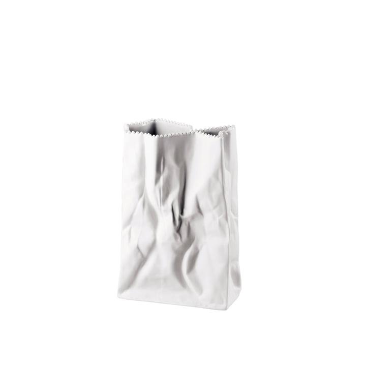 Rosenthal - Vase sachet 18 cm, blanc-mat poli