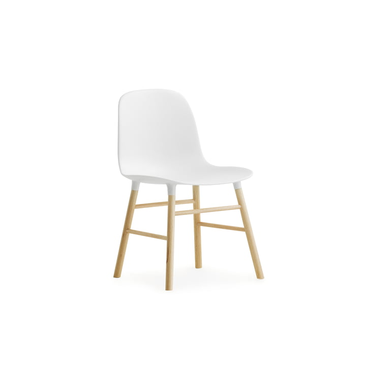 Form Chair Miniatur de Normann Copenhagen en chêne en blanc