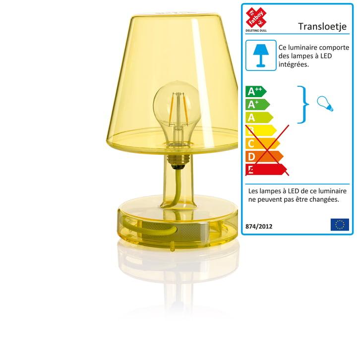 Lampe de table Transloetje de Fatboy en jaune