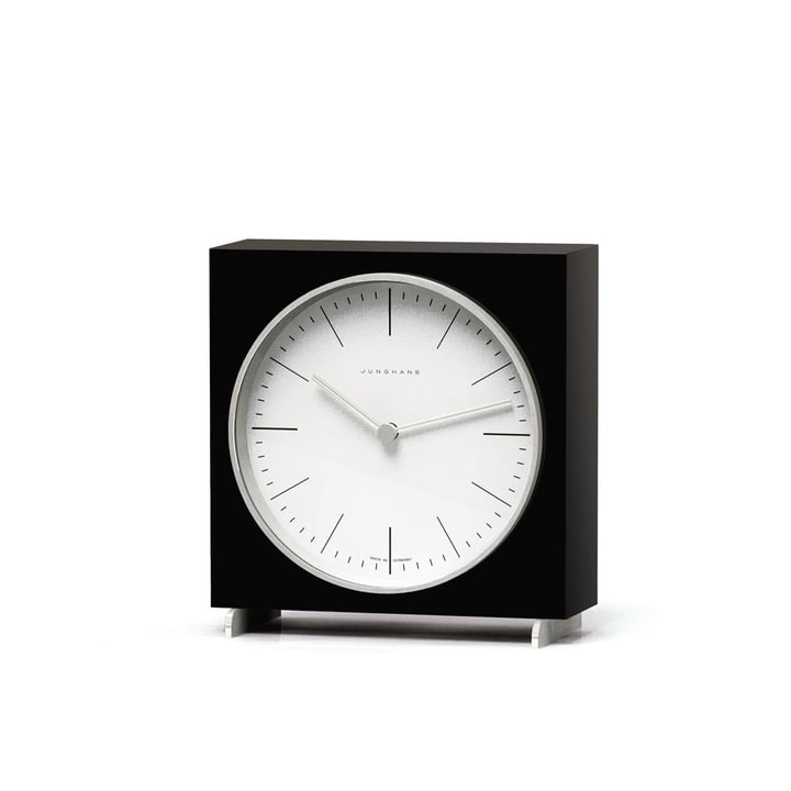 Horloge de table quartz Max Bill par Junghans en noir