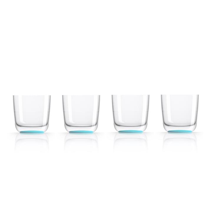 Verre à whisky de 285ml (lot de 4) de Palm Products en bleu