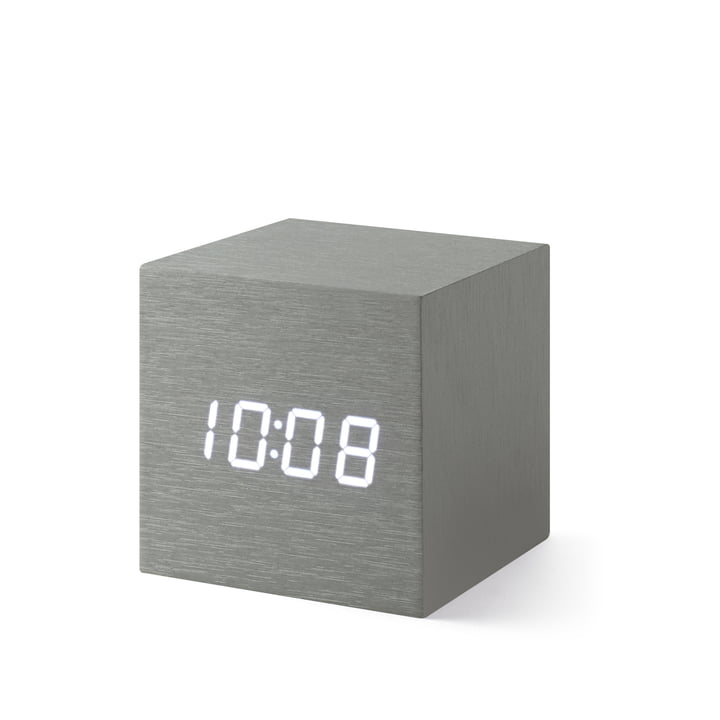 Alume Cube Clock avec affichage LED de MoMA Collection
