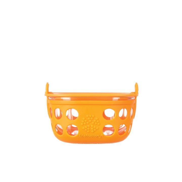 Boîte en verre 0,2litre de Lifefactory en orange