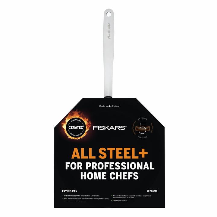 Fiskars - Poêle à frire All Steel +