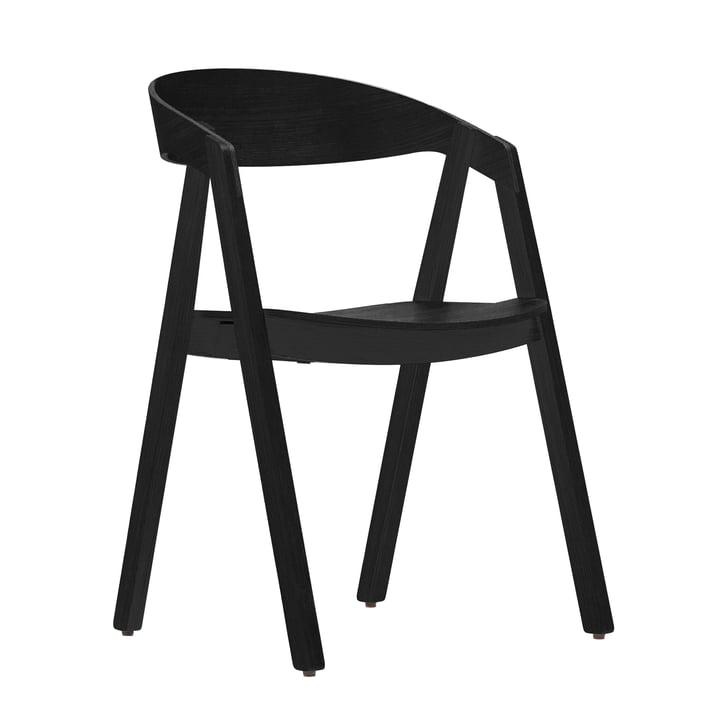 Maigrau - Chaise NARDO, frêne, verni noir