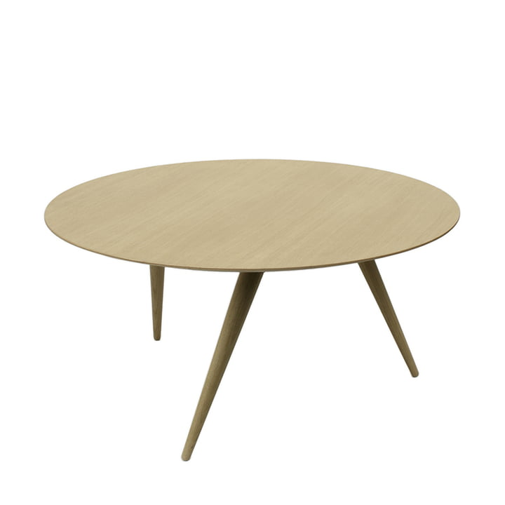 Table basse TURN LOW de Maigrau en chêne naturel vernis transparent