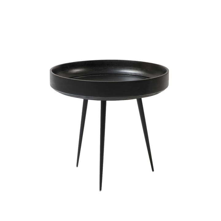 Table Bowl en petit format de Mater en manguier teinté noir