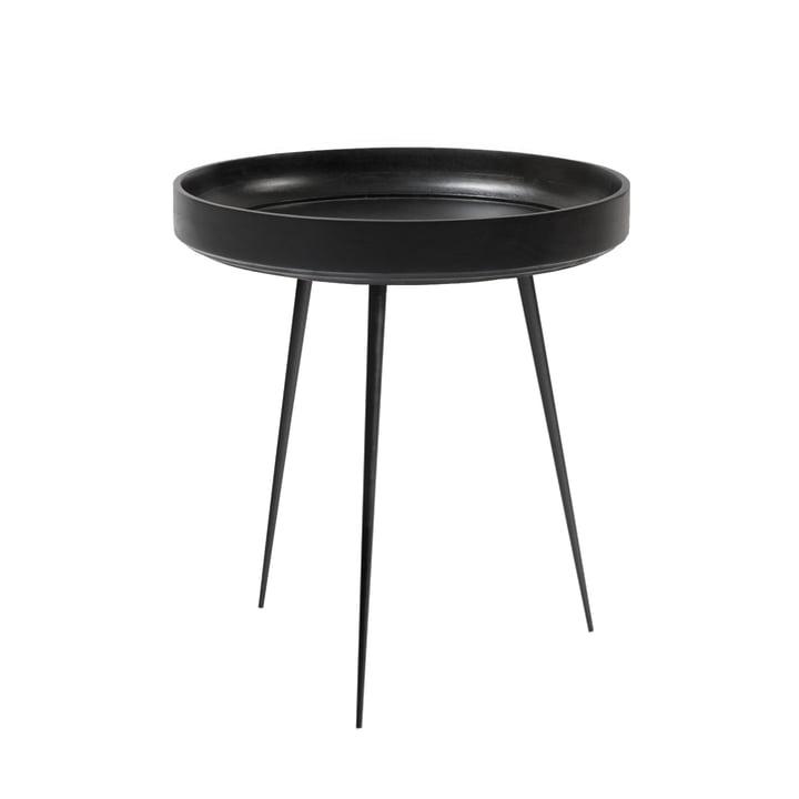 Table Bowl en moyen format de Mater en manguier teinté noir