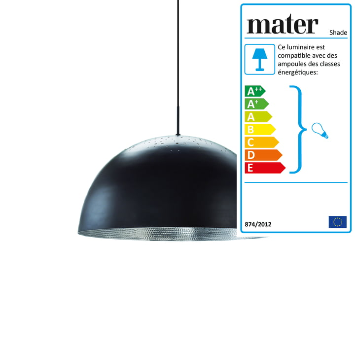 Shade suspension lumineuse Ø 40 cm de Mater en noir