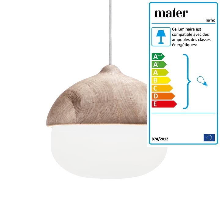 Suspension lumineuse Terho de Mater en grand format