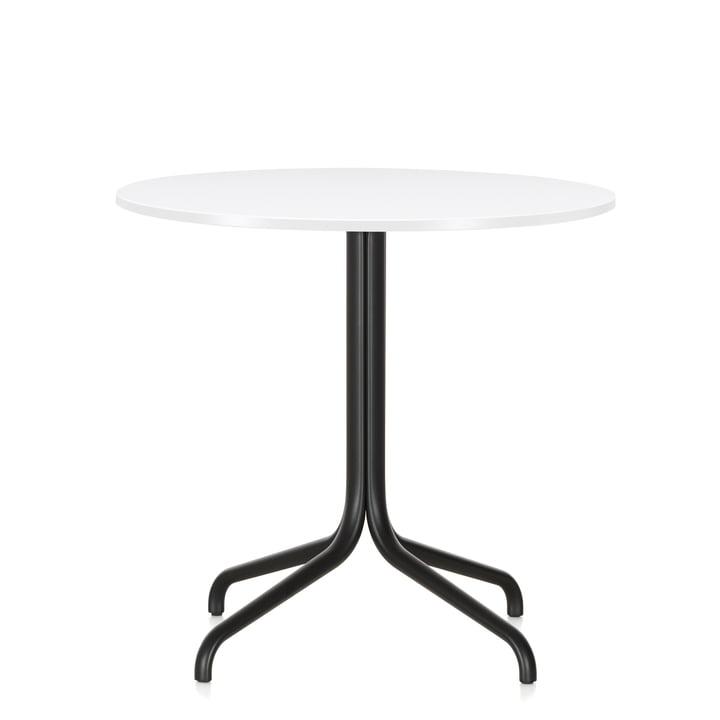 Table de bistrot Belleville, rond, Ø 79,6 cm par Vitra en blanc