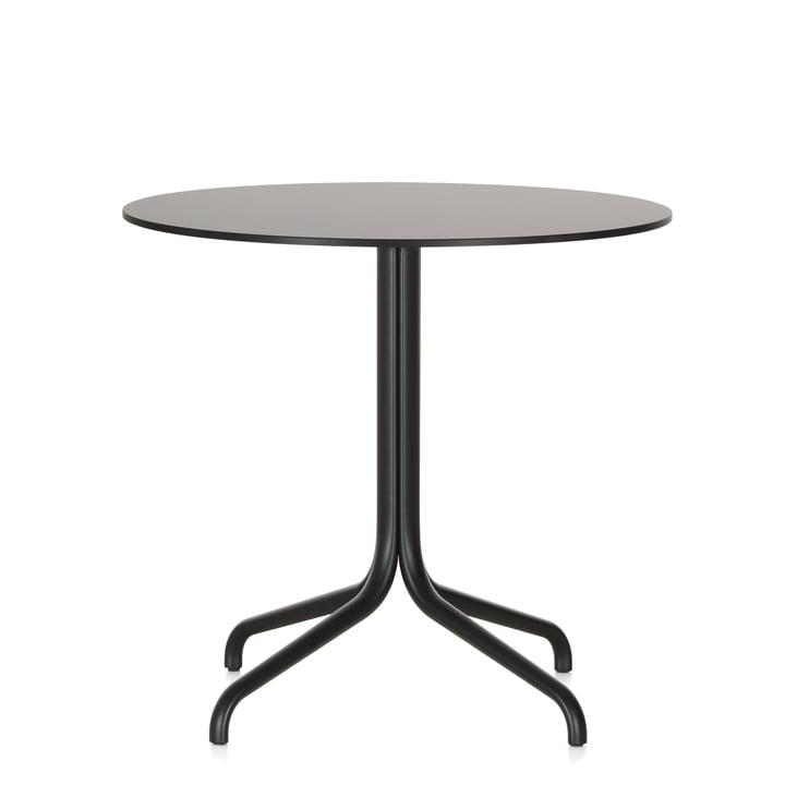 Table de bistrot Belleville, rond, Ø 79,6 cm par Vitra en noir
