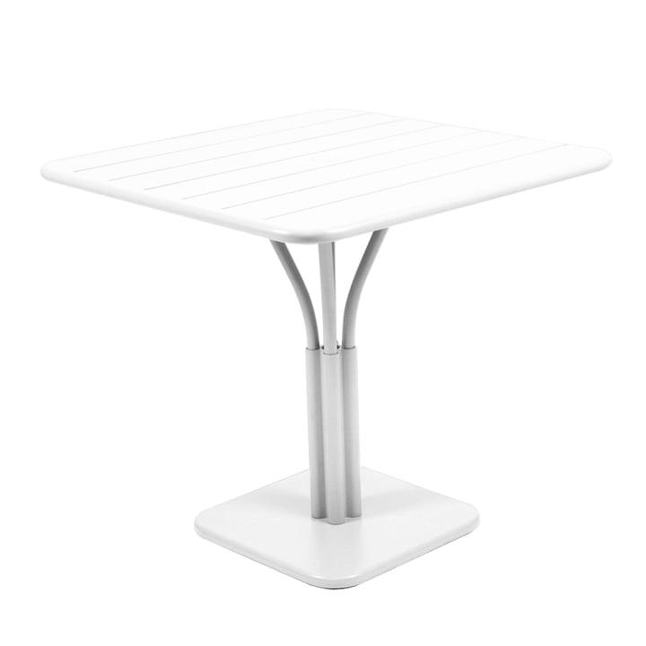 Table Luxembourg 80 x 80cm de Fermob en blanc coton