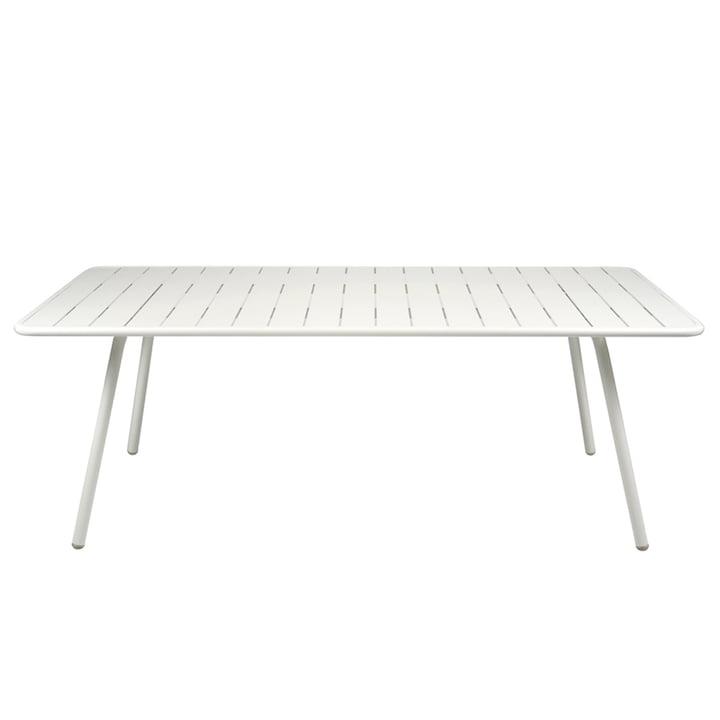 Table Luxembourg 100 x 207cm de Fermob en blanc coton
