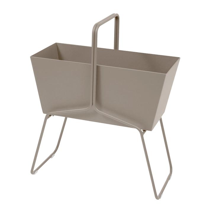 Fermob - Jardinière de fleurs haute Basket, muscade