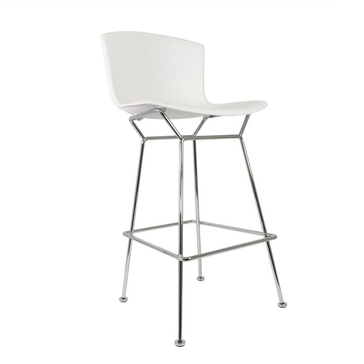 Knoll - Bertoia tabouret de bar en matière plastique, blanc / chromé