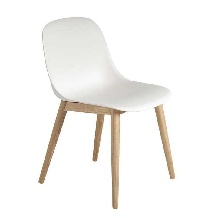 Muuto - Fiber Side Chair Wood, chêne / blanc