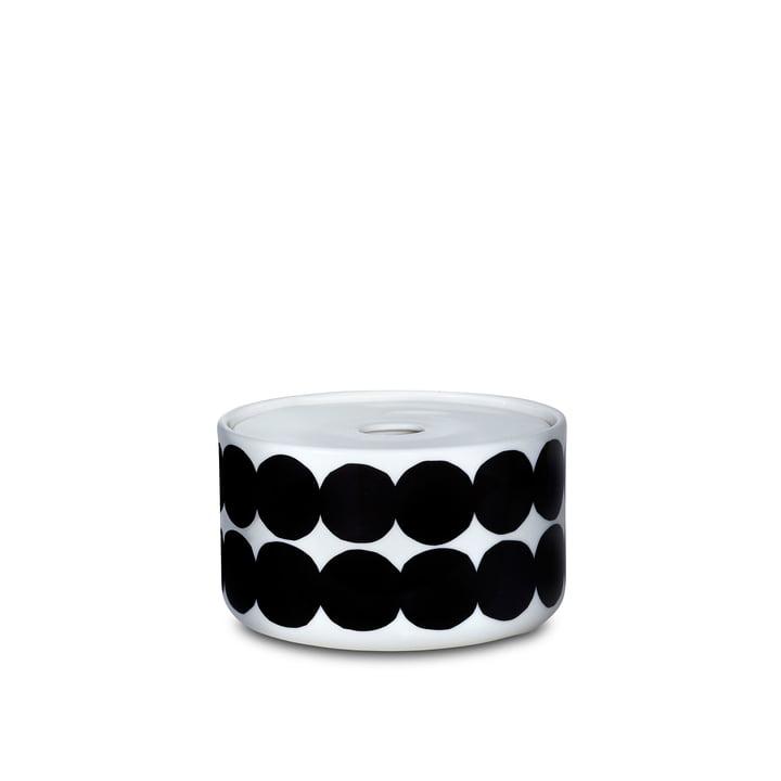 Le bocal Oiva Siirtolapuutarha dans la taille 450 ml en blanc/noir